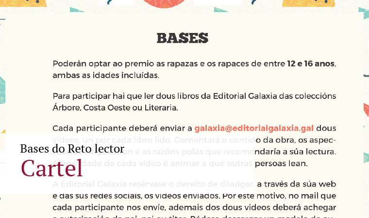 Bases do Reto lector - Cartel